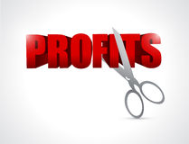 Cutting profits. illustration design. Over a white background Royalty Free Stock Photos