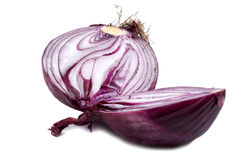 Cutting red onion Stock Photos