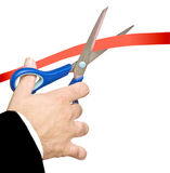 Cutting Red Tape Stock Photography