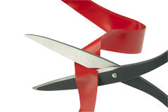 Cutting through red tape Stock Photography