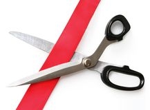 Cutting through Red Tape Royalty Free Stock Photography