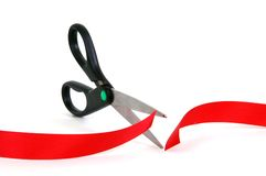 Cutting Red Tape Royalty Free Stock Photo