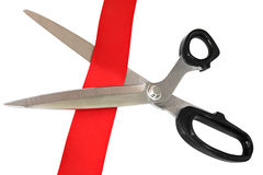 Cutting Red Tape Royalty Free Stock Image