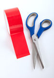 Cutting Red Tape Stock Image