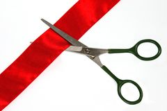 CUTTING RIBBON Royalty Free Stock Image