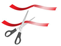 Cutting a ribbon royalty free stock photos