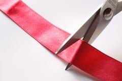 Cutting ribbon A Stock Photo