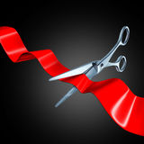 Cutting the ribbon Royalty Free Stock Photography