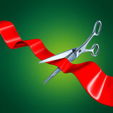 Cutting the ribbon Royalty Free Stock Photos