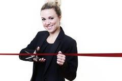 Cutting ribbon Royalty Free Stock Photos