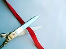 Cutting Ribbon Royalty Free Stock Photo