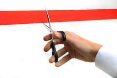 Cutting ribbon Royalty Free Stock Images