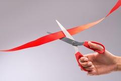 Cutting ribbon Stock Photo