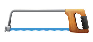 A cutting saw. Illustration of a cutting saw on a white background royalty free illustration
