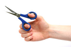 Cutting with Scissors Stock Photography