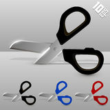 Cutting scissors Stock Image