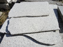 Stack of granite slabs Royalty Free Stock Image
