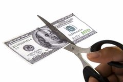 Cutting Spending Royalty Free Stock Image