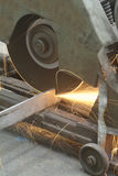 Cutting of steel Stock Photography
