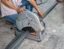 Cutting Steel. For construction plant Stock Images