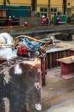 Cutting steel. Stock Photo
