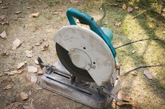 Cutting steel machine. Cutting steel with machine Construction stock photos