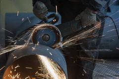 Cutting steel Stock Photography