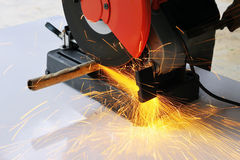 Cutting steel Royalty Free Stock Photography