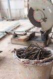 Cutting steel tool Stock Image