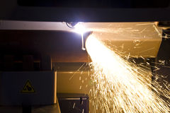 Cutting steel tube Stock Photos
