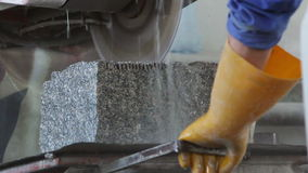 Cutting Stone Stock Photo