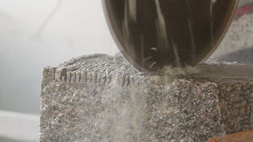 Cutting Stone stock video footage