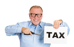 Cutting tax Stock Photography