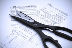 Cutting Taxes stock photo