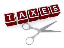 Cutting taxes Stock Image