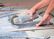 Cutting tile Stock Photography