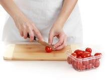 Cutting tomato Royalty Free Stock Photo