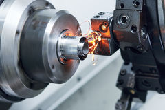 Free Cutting Tool At Metal Working On Lather Machine Royalty Free Stock Photography - 90123717