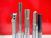 Cutting tool for high precision machining manufacturing process Stock Photo