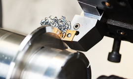 Cutting tool at mechanical turning metal working Stock Photography