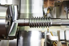 Cutting tool at metal working Stock Image