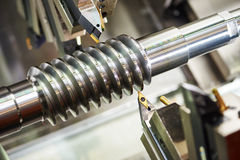 Cutting tool at metal working Royalty Free Stock Image