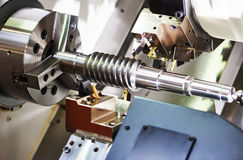 Cutting tool at metal working Stock Photography