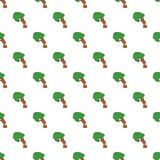 Cutting tree pattern, cartoon style. Cutting tree pattern. Cartoon illustration of cutting tree vector pattern for web Royalty Free Stock Images