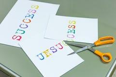 Cutting unsuccess for a success target Stock Image