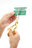 Cutting up credit card Stock Image