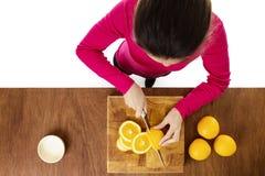 Cutting up food Stock Photos