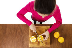 Cutting up food Stock Photography