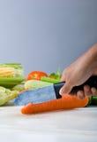 Cutting vegetable Stock Photos