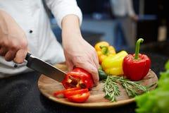 Cutting vegs Stock Photos